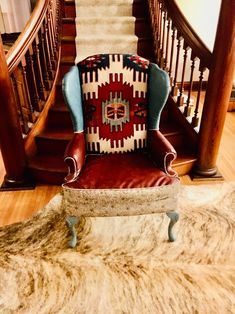 Leather Wingback Chair, Building A Cabin, Turkish Blanket, Diy Chair, Distressed Leather, Decoration, Home Interior Design, Master Bedroom, Upholstery