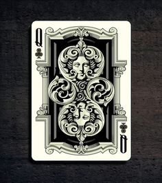 """""""Grotesque"""" deck of playing cards - UnitedCardists2014 by United Cardists » From Bacon to Bee — Kickstarter.  FINAL WEEK ON KICKSTARTER - THEN THEY ARE GONE!"""