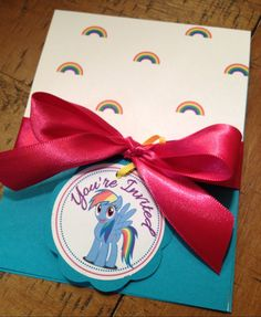 My Little Pony Birthday Invitations  Rainbow by MyKlassyKreations