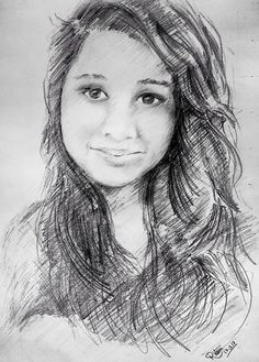 A random pick from my #Facebook #friends #pencil #drawing or #sketch of