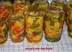 Sałatka wielowarzywna na zimę Pickles, Cucumber, Mason Jars, Food, A5, Salads, Essen, Mason Jar, Meals