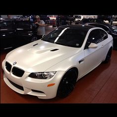 No filter needed on this Frozen White Matte finished M3 #RallyeBMW # BMW