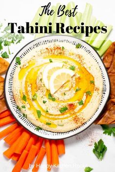 If you are looking for a way to use tahini paste other than hummus, look no further. This collection of 82 unique, delicious and healthy recipes with tahini will surely give you some inspiration to make the most out of your tahini jar. All recipes are vegetarian or vegan with many gluten-free options. Homemade Tahini, Homemade Hummus, Dinner Party Recipes, Appetizer Recipes, Appetizers, Tahini Recipe, Vegetarian Recipes, Healthy Recipes, Essen