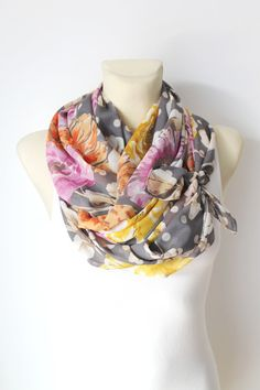 Hey, I found this really awesome Etsy listing at https://www.etsy.com/listing/187491078/floral-silk-scarf-multicolor-infinity