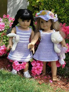 """Ravelry: American Girl 18"""" doll Garden Party pattern by Ase Bence"""
