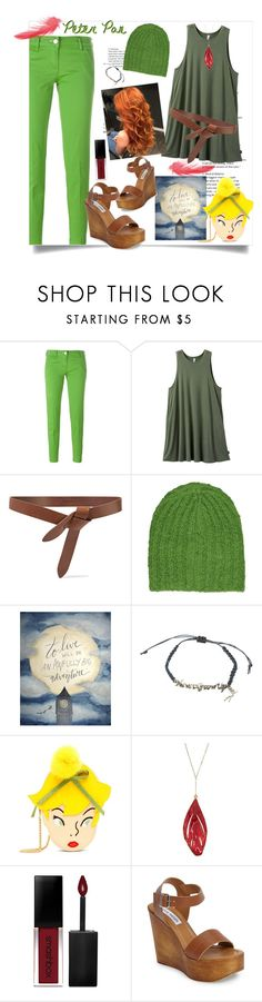 """Peter Pan"" by bitty-junkkitty ❤ liked on Polyvore featuring Jacob Cohёn, RVCA, Isabel Marant, Disney, Danielle Nicole, Aurélie Bidermann, Smashbox and Steve Madden"