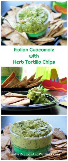 Italian Guacamole with Herb Tortilla Chips #GuacSquad12 @gourmetgarden @melissasproduce @casabellaclean #ad