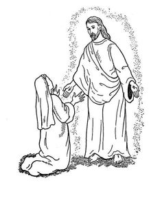 Bible Story Coloring Page for Angel Gabriel Visits Mary ...