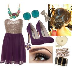 Personal outfit I created on Polyvore! Homecoming ideas anyone?
