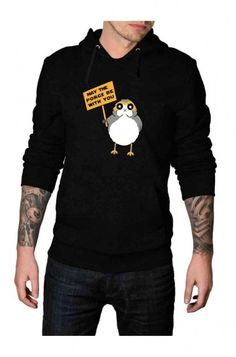 Made from cotton and polyester material, this May The Porg Be With You Hoodie is a stylish craftsmanship that lets your persona high on trending with the fashion. Star Wars Jacket, Coming To Theaters, Star Wars Shop, Last Jedi, Collar Styles, Great Movies, Hoodie Jacket, Hoodies, Sweatshirts