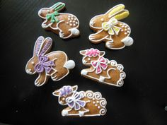 Velikonoce 2015 Royal Icing Cookies, Happy Easter, Biscotti, Gingerbread Cookies, Baking, Party, Desserts, Food, Easter Cookies