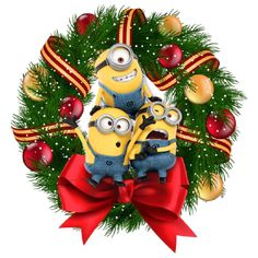 Minions, Minion Rush, Merry Christmas, Xmas, Christmas Ornaments, Movie, Humor, Bottle, Holiday Decor