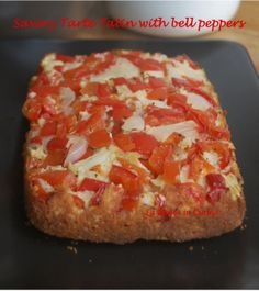 Veg and delicious, an easy to fix and bake bell peppers savoury cake! http://blog.giallozafferano.it/allyoucanbake/savory-tarte-tatin-bell-peppers/