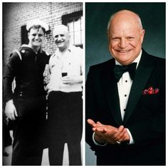 """Donald Jay """"Don"""" Rickles (Actor/Comedian) Enlisted in the U. Navy and served during World War II on the USS Cyrene, a torpedo boat tender, in the Pacific, as a seaman first class. He was honorably discharged in Hollywood Stars, Classic Hollywood, Old Hollywood, Famous Veterans, Military Veterans, Military Service, Joining The Military, Military History, Naval History"""