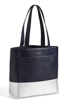 kate spade new york 'lita street - andrea' at Nordstrom.com. A delicate spade charm refines a cool, contemporary tote styled in mod color blocking with a shimmering, silvery base.
