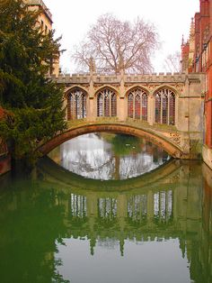The Bridge of Sighs in Cambridge, England.