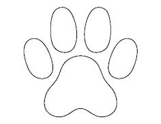Image result for paw print templates