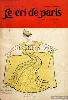 "Leonetto Cappiello, 1901 Cléo de Mérode ""Lorenza"" Folies-Bergère"