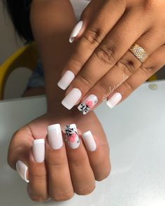Flower Nail Designs, Simple Nail Art Designs, Flower Nail Art, Ny Nails, Summer Nail Polish, Nail Art Designs Videos, Luxury Nails, Nails Tumblr, Nail Decorations