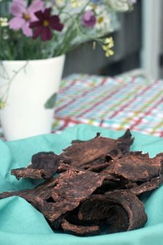 Clean-eating: home made jerky.  I plan on using Turkey instead of beef so I can keep bad cholesterol and fat to a minimum.  Apparently you can also do this with tuna, but frankly, that sounds gross.
