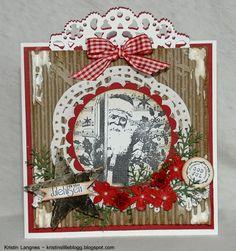 Kristins lille blogg: Julekort i tradisjonelle julefarger