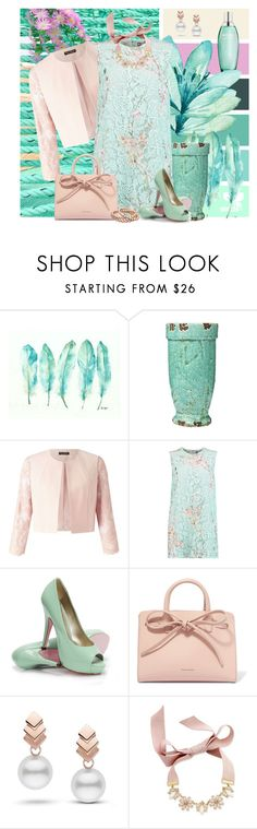 """""""Pastel Lace Dress"""" by honkytonkdancer ❤ liked on Polyvore featuring Biotherm, Miss Selfridge, MSGM, Lara, Mansur Gavriel, Escalier and INC International Concepts"""