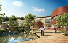 Artist Impression of The Plaza at Woburn Forest