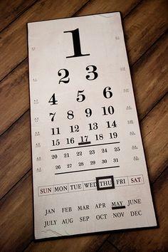 how fun is this eye chart calendar from @antiquefarm
