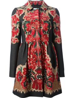 Red Valentino Floral Print Coat