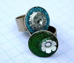 How To Make Embellished Resin Rings