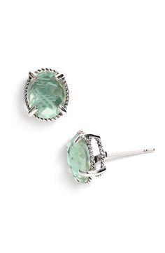 "would prefer these as a ""drop"" instead of a post, but that green amethyst is so, so lovely!"