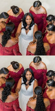 off the shoulder red long bridesmaid dresses with long sleeves, mermaid bridesmaid dresses, long bridesmaid dresses African Bridesmaid Dresses, African Wedding Attire, Mermaid Bridesmaid Dresses, Mermaid Dresses, Wedding Bridesmaids, Royal Blue Bridesmaids, Black Wedding Hairstyles, Bride Hairstyles, Black Bridesmaids Hairstyles