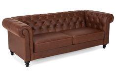 Sohva Chesterfield 3:n istuttava Punainen/ruskea  -  | Kodin1.com