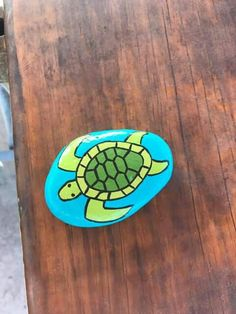 Turtle Painted On River Rocks