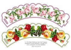 2 x Tea Time With Roses Cup Cake Wrappers on Craftsuprint designed by Elaine…