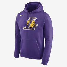 f42ee7c1 Los Angeles Lakers Men 039 s M L XL Full Zip Hooded Winter Jacket NBA Purple  A8TLM. Fleece HoodieHoodie JacketMens ...