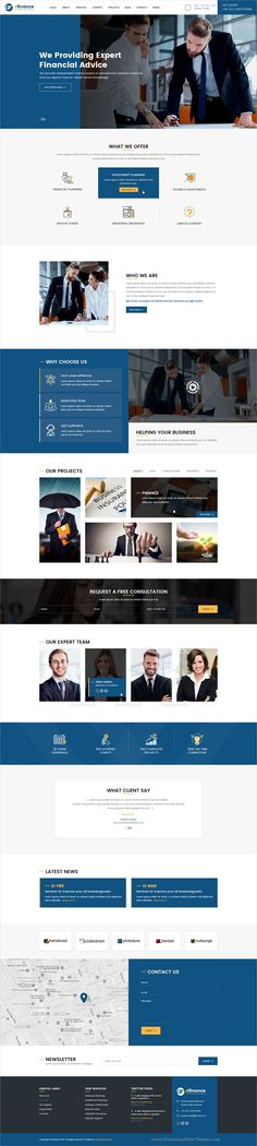 Buy dFinance- Multipurpose PSD Template by designingmedia on ThemeForest. Introduction dFinance – PSD Template is designed for multi purpose. This template is suitable for finance, accountin. Corporate Website Design, Web Design Websites, Web Design Examples, Website Design Layout, Web Design Tips, Responsive Web Design, Web Layout, Layout Design, Ux Design