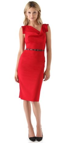 Black Halo Jackie O Dress in red