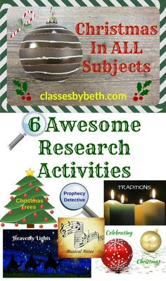 Christmas in All Subjects: 6 Awesome Research Activities