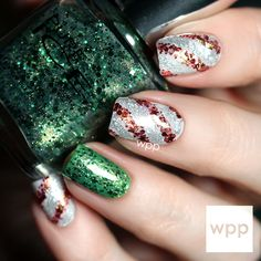 Pure Ice Holiday Nail Art