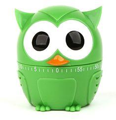 Kikkerland Kitchen Timer OWLET Little Owl 55 Minute in Blue, Red or Green for sale online Bakers Kitchen, Owl Kitchen, Cute Kitchen, Kitchen Dining, Awesome Kitchen, Dining Room, Pomodoro Technique Timer, Apple Green Kitchen, Design3000
