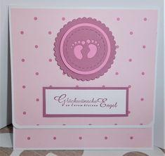 Babykarte mit integriertem Geldscheinfach zur Geburt oder auch zur Taufe