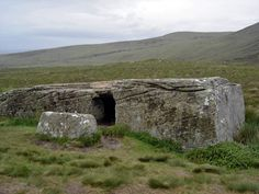 In the central part of Hoy Island is located mysterious monument of the past - Dwarfie Stane - enormous sandstone slab left by glacier. Some 5,000 years ago people with unknown methods and unclear purpose hollowed out this stone, creating a passage with two side chambers. Passage was plugged with a 1.5 tons heavy stone plug - door.