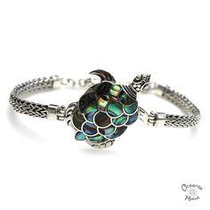 Fancy Turtle Bracelet with Abalone