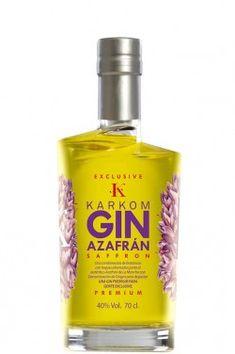 Karkom gin premium exclusive. Ginebra con azafrán de La Mancha, elaborada con 7…