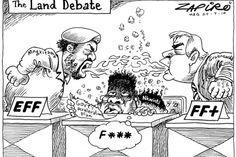 Zapiro: Talking land reform in Parliament - The Mail & Guardian Landing, Cartoons, Politics, Memes, Image, Cartoon, Cartoon Movies, Meme, Comics And Cartoons