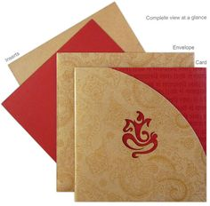 Ideas For Wedding Invitations Indian Gold Hindus Hindu Wedding Cards, Indian Wedding Invitation Cards, Wedding Invitation Card Design, Card Table Wedding, Diy Invitations, Invites, Wedding Budget Planner, Indian Wedding Planner, Wedding Card Design Indian
