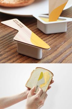 Very clever packaging design here. It makes me hungry for toast! Clever Packaging, Food Packaging Design, Packaging Design Inspiration, Brand Packaging, Branding Design, Coffee Packaging, Bottle Packaging, Corporate Design, Takeaway Packaging