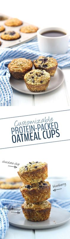 With 11 grams of protein in each cup, these customizable protein-packed oatmeal cups make for the perfect breakfast on the go. Bake then and then keep them in the freezer so you always have a healthy breakfast waiting for you!