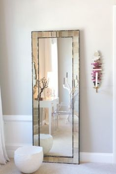 Stylish But Clean Look For A Full Length Bedroom Mirror